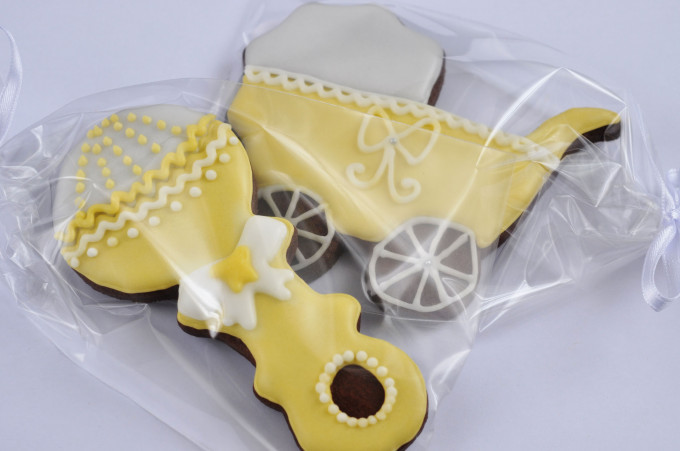 Recordatorios para bautizos -Galletas decoradas con glasa