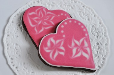 Galletas de chocolate para San Valentín