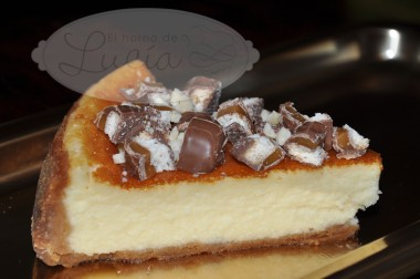 NY Cheseecake con galleta de caramelo y chocolate