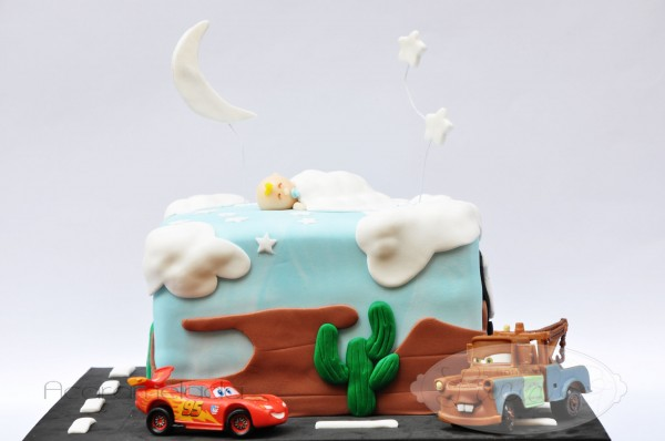 Cars Cake for a Baptism