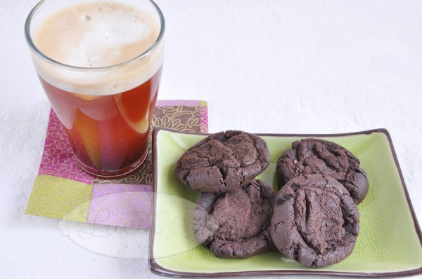 Banana chocolate fudge cookies