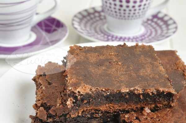 Brownie fudge chocolate sin gluten sin lactosa