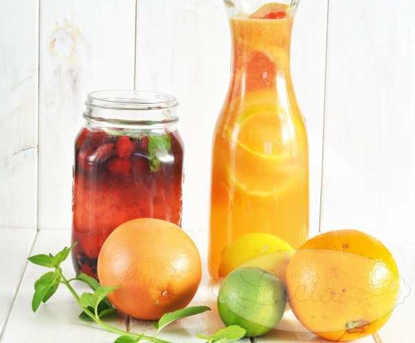 Agua de frutas naturales refresco saludable