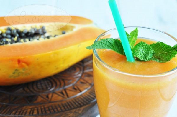 Smoothie de papaya sin lacteos